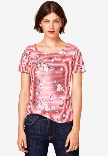 ESPRIT red Floral T-shirt 2CD96AAA122247GS_1