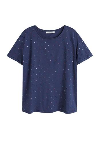 4158033bd5a Shop Violeta by MANGO Plus Size Metallic Print T-Shirt Online on ZALORA  Philippines