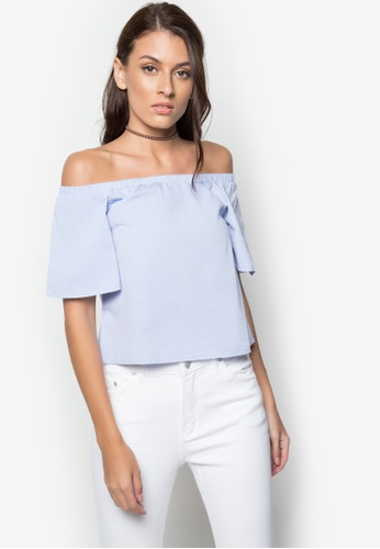 NEXT blue Off-Shoulders Flowy Top 7A7AFAAD391825GS_1
