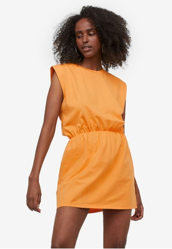 H&M yellow Jersey Dress 73D2DAA16BC0D6GS_1