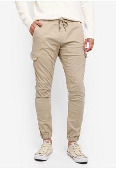 Indicode Jeans beige Levi Drawstring Cargo Jogger Pants 3F408AAD948339GS_1