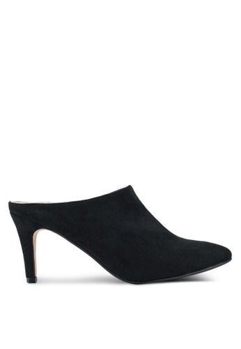 ZALORA 黑色 Slip On Heeled Mules 26034SH374DD0DGS_1