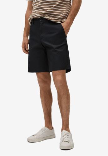 MANGO Man black Cotton Chino Style Bermuda Shorts 90187AA170B88FGS_1