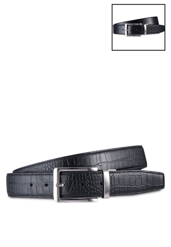 UniqTee black Reversible Classic Stitched Formal Belt 7D41EACA691222GS_1