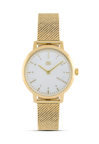 Tommy Hilfiger Watches white and gold Women's Stainless Steel Watch 14C24ACD9BEF21GS_1