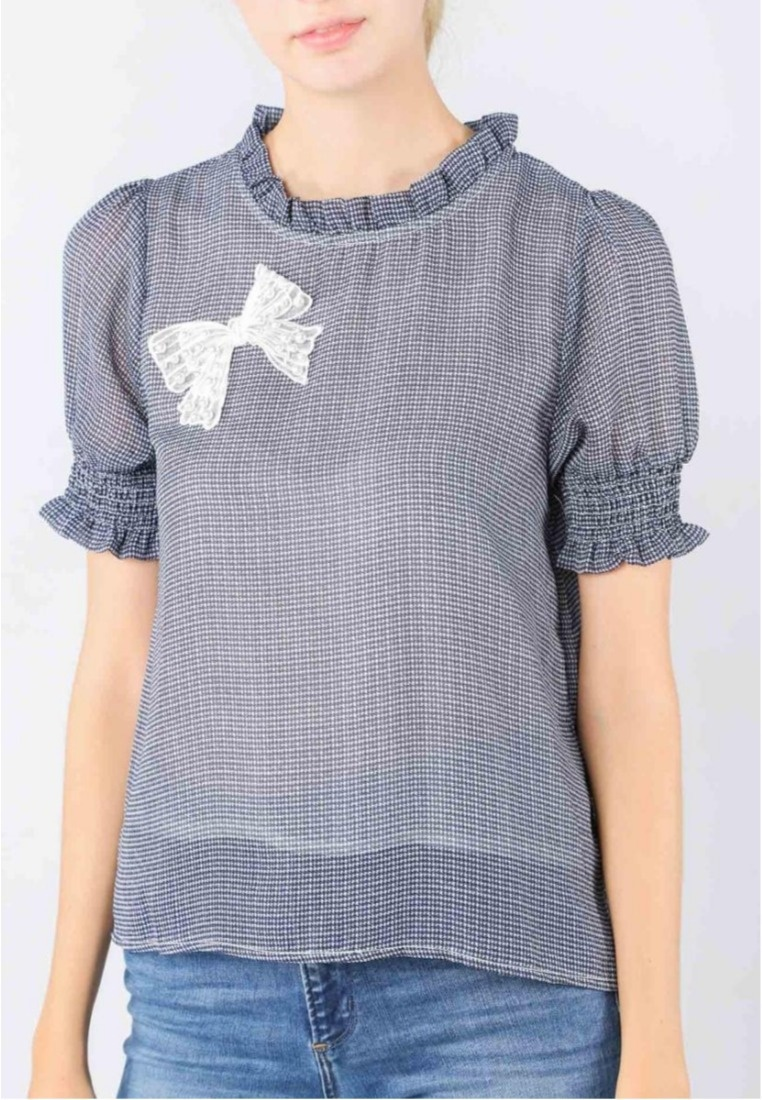 Fashion Navy Lanell in Top Checked White Moss n1dHw0qFH