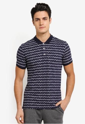 JAXON navy Nautical Stripe Polo Shirt 94D0DAA7876AB6GS_1
