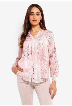 53946ff0240681 Wallis pink Petite Blush Snake Print Shirt C81FCAAA42C122GS_1