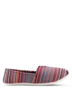 【ZALORA】 Jenna 條紋懶人鞋