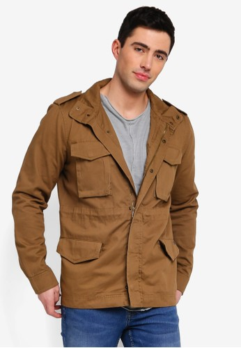 Only & Sons brown Asker Basic Field Jacket FD5B3AA7FACC0AGS_1