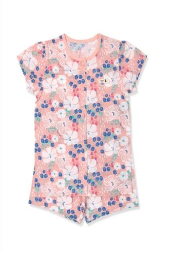 Organic mom pink Organic Cotton Janey Floral Pajamas BA400KAE8D2757GS_1