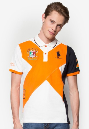 色塊徽章POLO 衫, 服飾, Polesprit 工作o衫