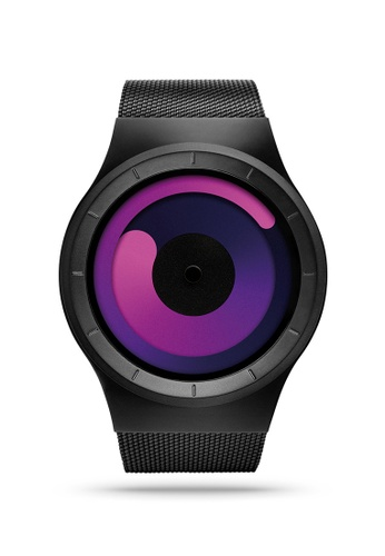 ZIIIRO black and purple Mercury Black Purple Watch FE966ACD681F44GS_1