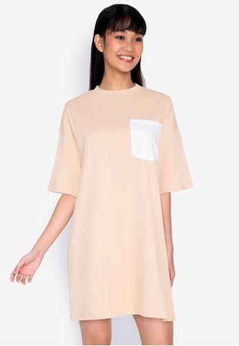 ZALORA BASICS multi Contrast Pocket Oversized T-shirt Dress 752B7AA547924CGS_1