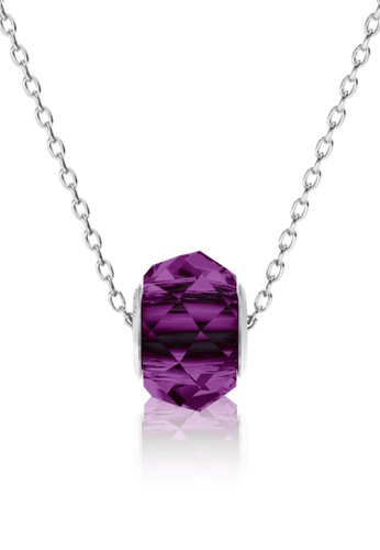 Her Jewellery purple BeCharmed Briolette Bead Pendant (Amethyst) - Made with premium grade crystals from Austria D8932ACCFB67C9GS_1