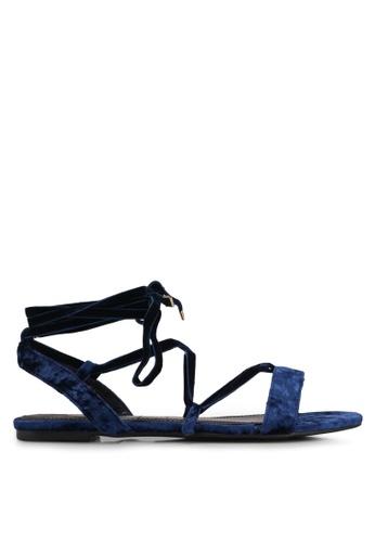 Velvet navy Velvet Sandals 28128SH742EC36GS_1
