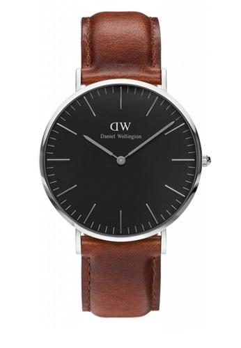 Daniel Wellington brown Classic Black St Mawes Watch 40mm DA376AC85NBIMY_1