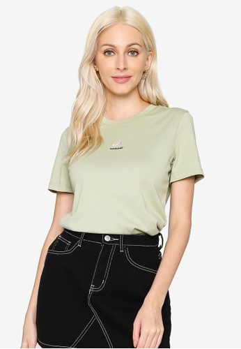 Hopeshow green Fruit Embroidered Round Neck Short Sleeve T-Shirt 8EA2CAA8A015B6GS_1