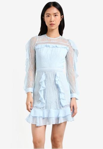 True Decadence blue Frilly Midi Dress TR715AA0S2Y4MY_1