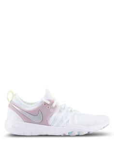 Nike white Women's Nike Free TR 7 Training Shoes NI126SH0STXFMY_1