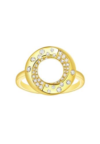 Vedantti yellow Vedantti 18K The Circle Polka Dots Ring in Yellow Gold 1B00DAC58DBC7EGS_1
