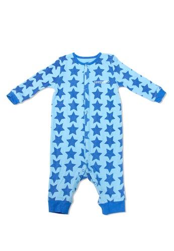 TeePeeTo blue Star Boy Romper AAC0BKA2A992DFGS_1