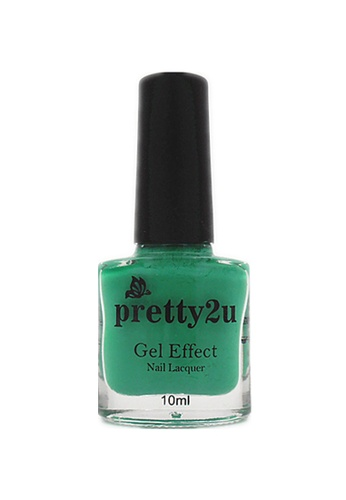 Pretty2u green Gel Effect Nail Lacquer 11 PR716BE12WQPMY_1