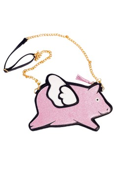 Baby Fashionista Flying Pig Bag Pink