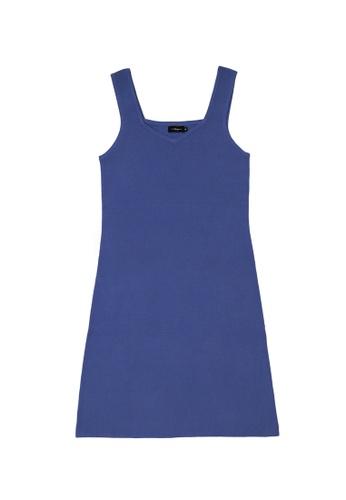 KLAPS blue Solid tone mini knitted dress 029A7AA8B27464GS_1
