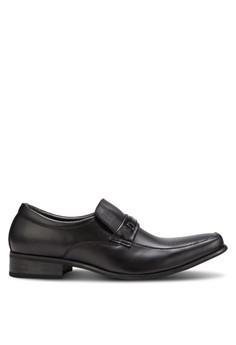 Spiffy-金飾方頭商務皮鞋