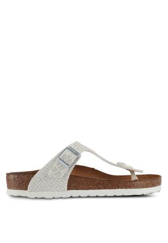 Birkenstock 白色 Gizeh Magic Snake Sandals 43E74SH5D67307GS_1