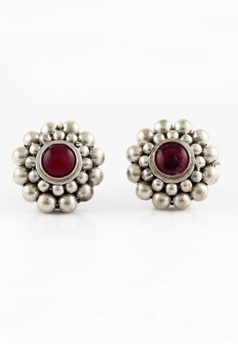 Aadyaa Singapore silver Pink Saaj Gath Earrings 4D9C1ACB5183FEGS_1