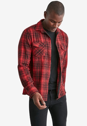 Trendyol red Regular Plaid Shirt with 2 Pockets F496AAA9FA0235GS_1