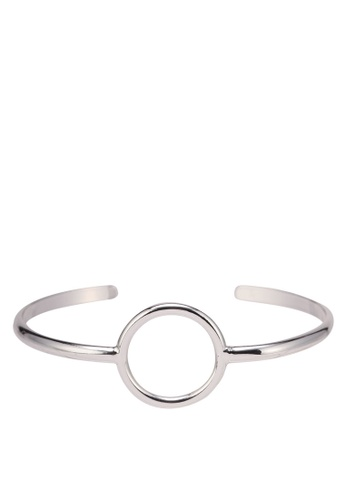 Orelia London silver Circle Open Bangle OR747AC0SC56MY_1