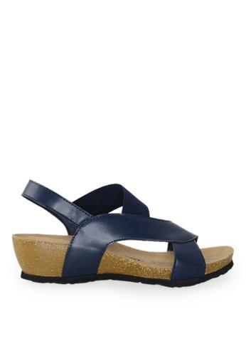 Footspot blue FOOTSPOT – Trendy Streamline Cork Sandals A2C22SH5D35061GS_1