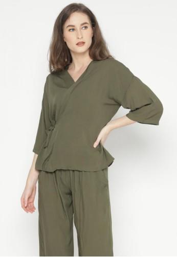 Mannequin green Kimono Rayon Set 5266EAADA47A32GS_1