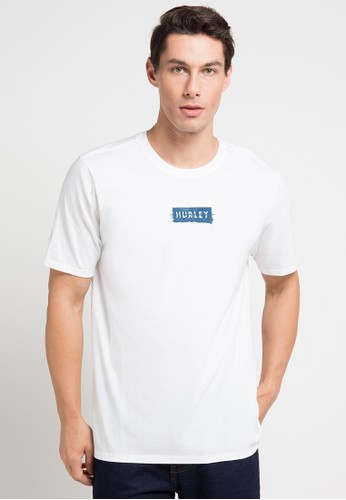 hurley white Cre Ripples T-Shirt F65FBAA07278C2GS_1