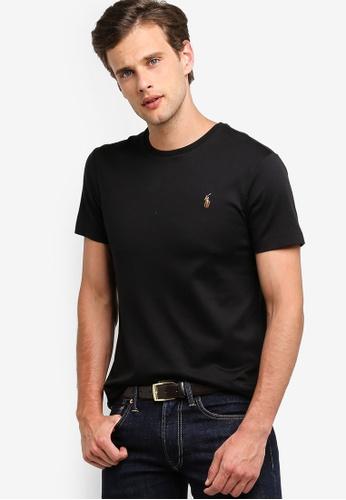 03168406 Polo Ralph Lauren black Short Sleeve Crew Neck Slim T-Shirt  241F6AA413839CGS_1