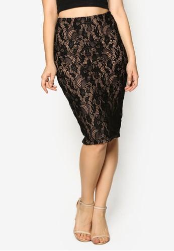 蕾絲及膝短裙, esprit tote bag服飾, 裙子