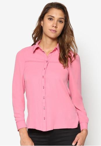 刺針素色長袖襯衫, 服飾, esprit 香港上衣