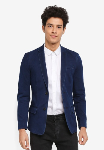 Only & Sons blue Hector 2B Blazer 9E03DAA6C781C8GS_1