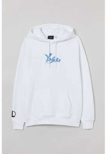 H&M white Regular Fit Hoodie FA6D8AACC933ACGS_1