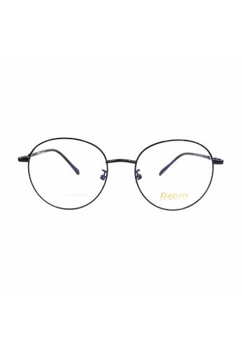 Ibrillen Optical black RETRO RET003 Kacamata Bulat Korean Style - Black A951EGL481DEBBGS_1