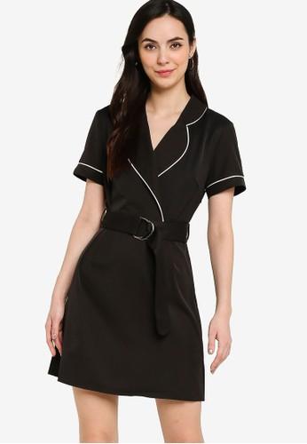 ZALORA WORK black Contrast Piping Dress 7F3A1AA60F21E1GS_1