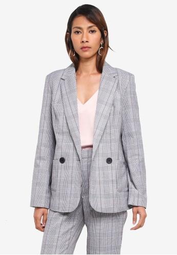 Vero Moda black Checkered Blazer E5A43AAE57736EGS_1