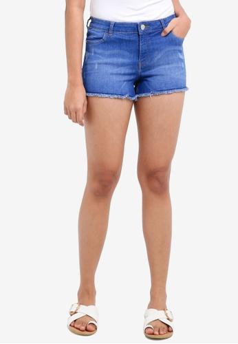 Miss Selfridge blue Blue Shorts 6B2CDAA19E34B1GS_1