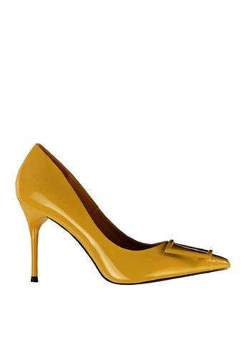 Twenty Eight Shoes yellow Square Buckled Heels VL17851 530B6SH69B3625GS_1