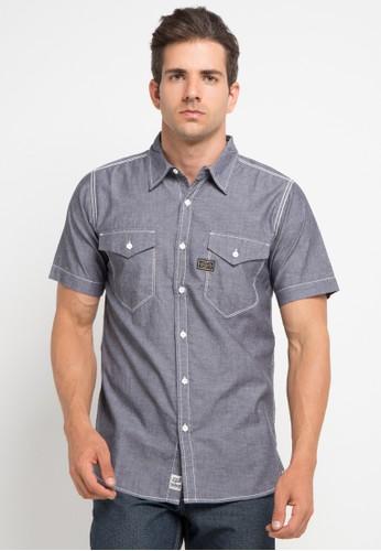 SHARKS grey Short Sleeve Shirt SH473AA0V2SYID_1