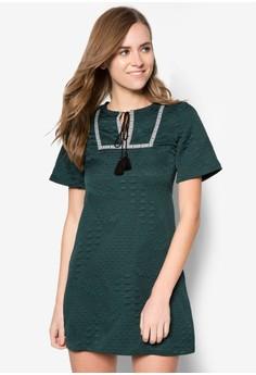 Tassel Jacquard Swing Dress
