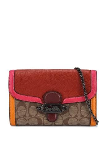 Coach brown and red Jade Chain Crossbody Bag (cv) 1C35DACBD044FCGS_1